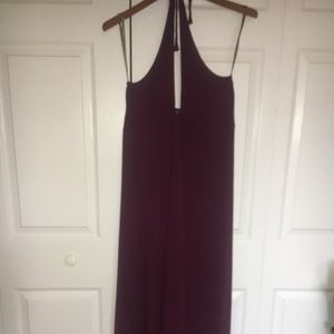 Tommy BAHAMA Faux Wrap Halter Dress Purple M